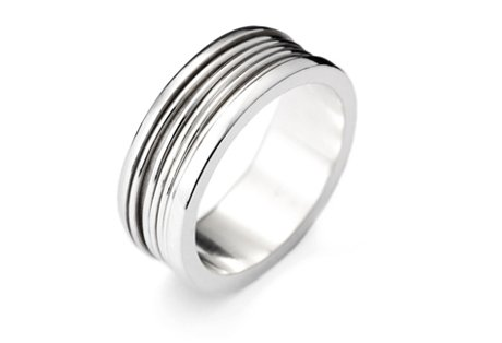 silver x5 spin ring