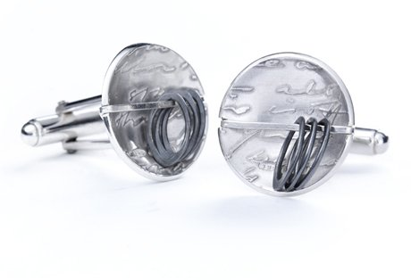 diary button abacus cufflinks
