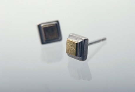 square studs by Shona Carnegie  :  minimal squares earrings studs